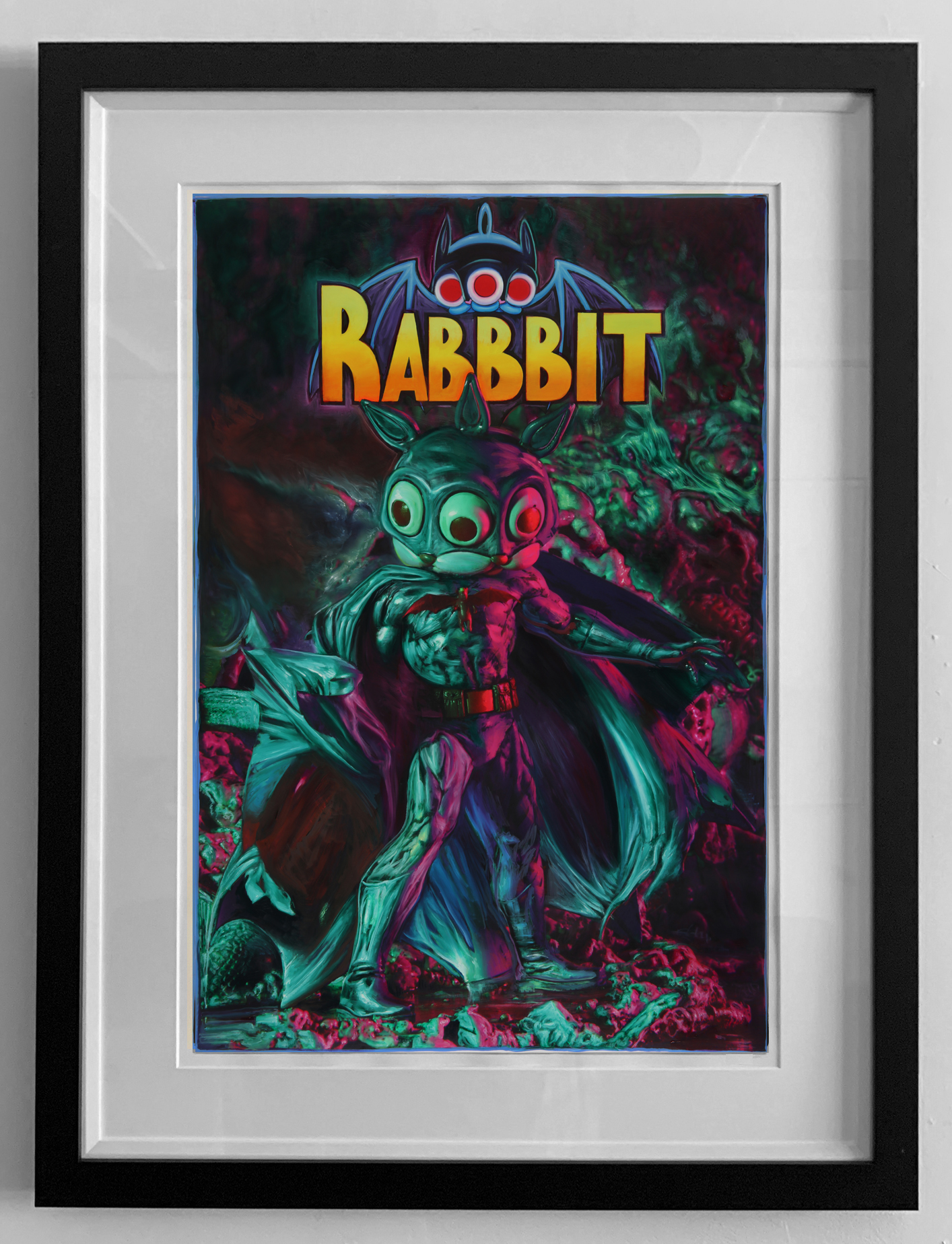 pop RABBBIT BATMAN FRAMED