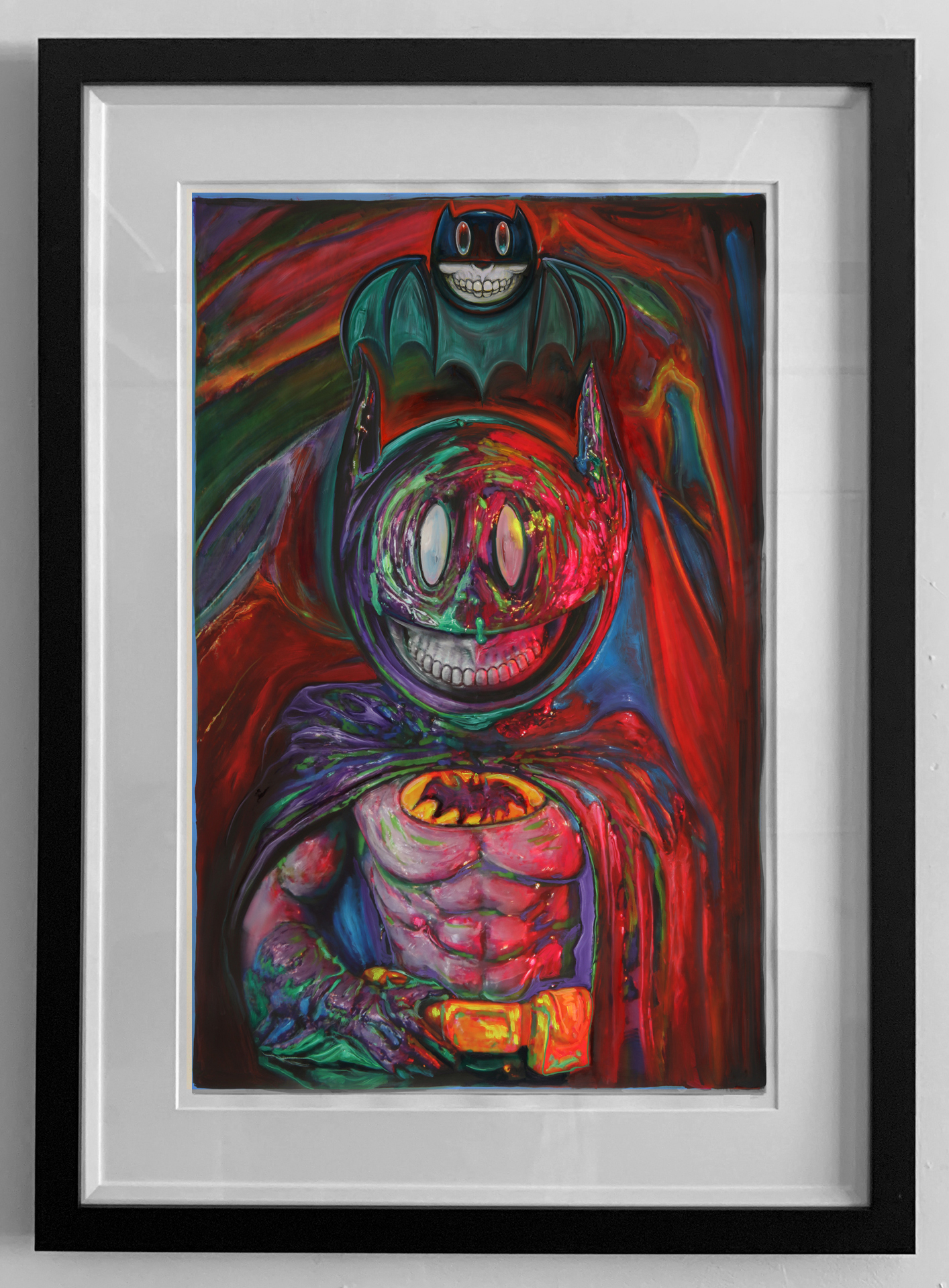 pop BATMAN GRIN FRAMED