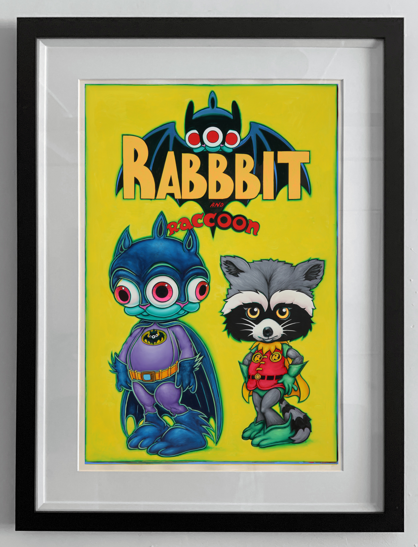 pop RABBBIT and RACCOON FRAMED