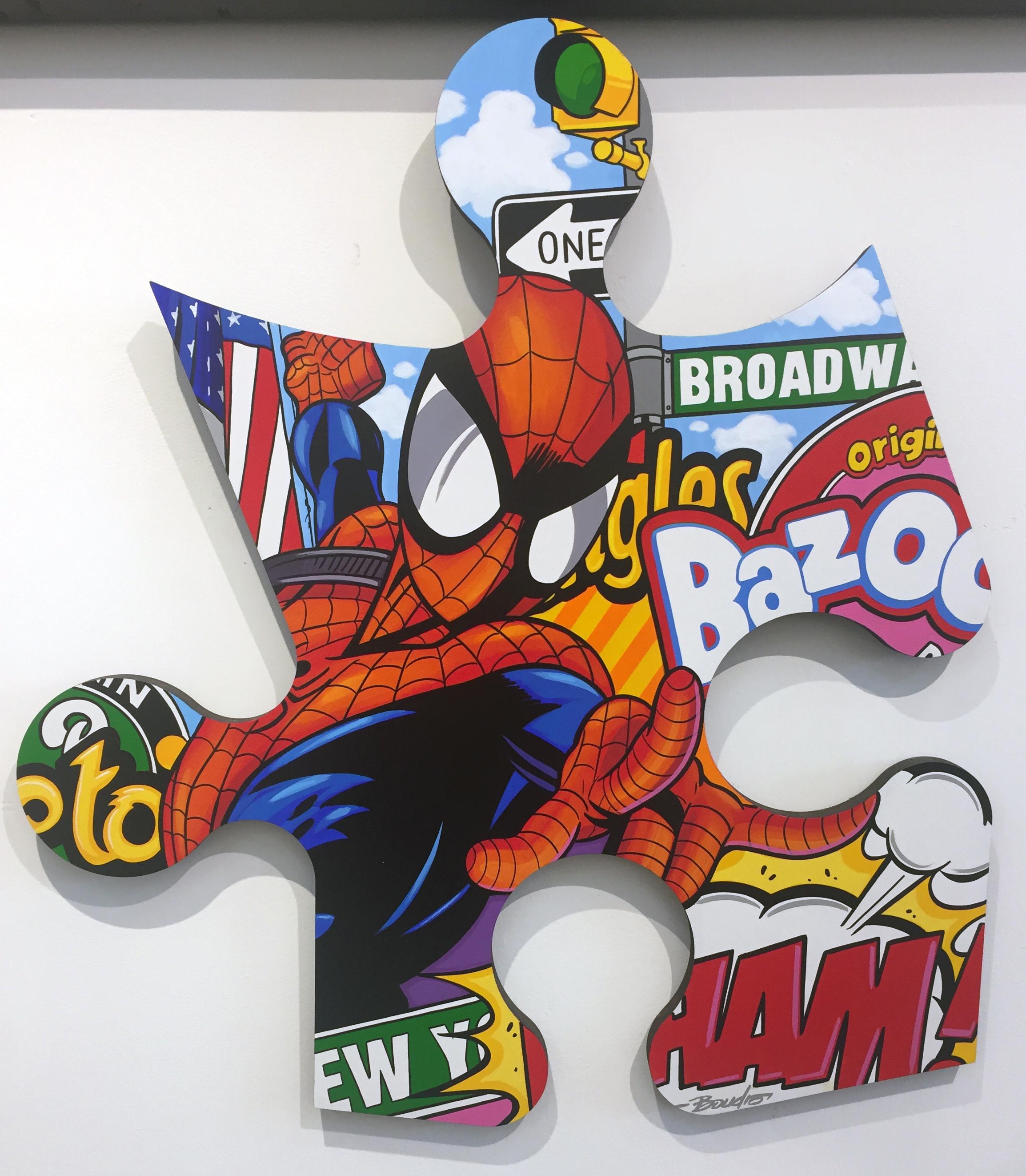 Spiderman - Green Light & Flag on Broadway