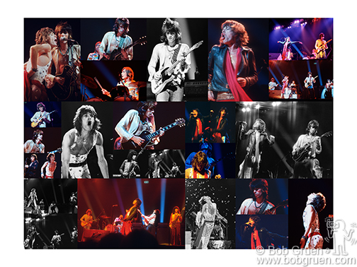 Rolling Stones 1972 Collage