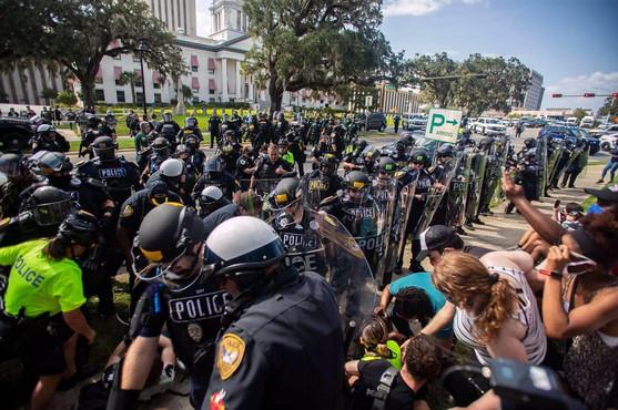 Police Officers Making Arrests