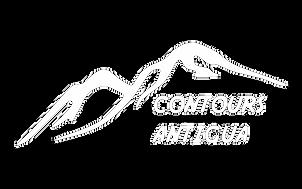 Contours Antigua Logo white