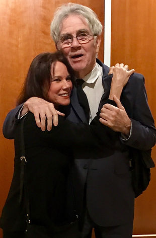 Fancher with Barbara Hershey at premier