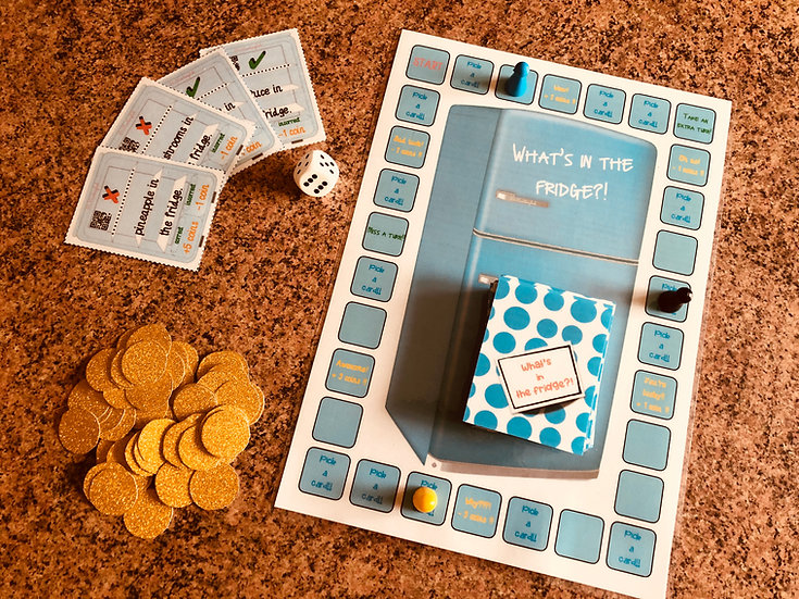 'What's in the fridge' board game