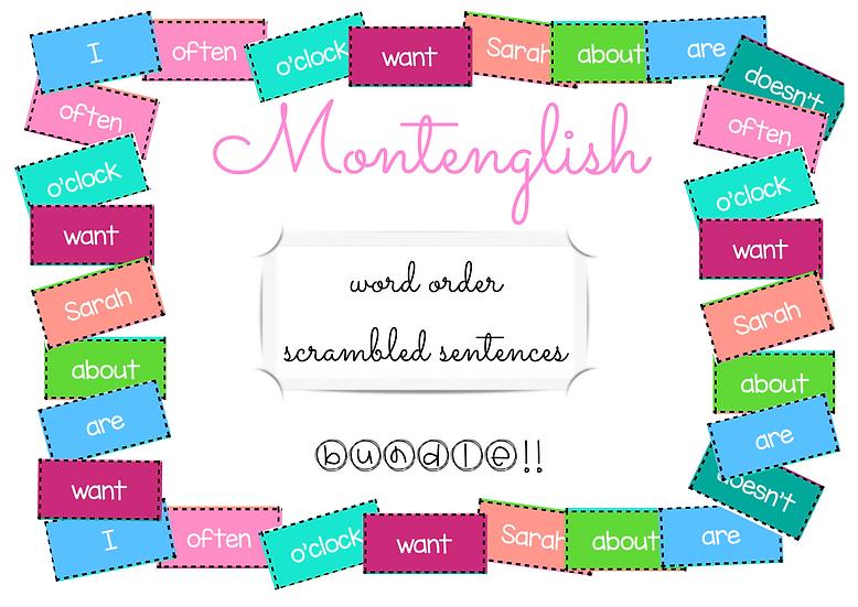 Scrambled sentences: BUNDLE!!