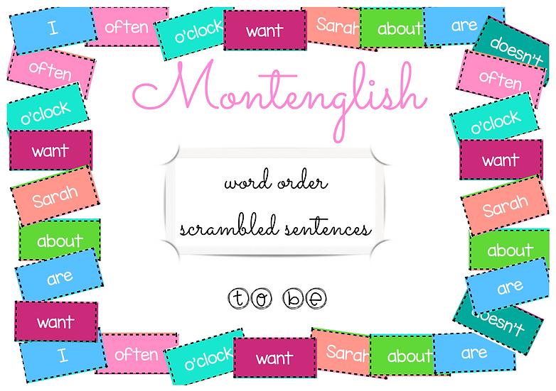 Scrambled sentences: to be