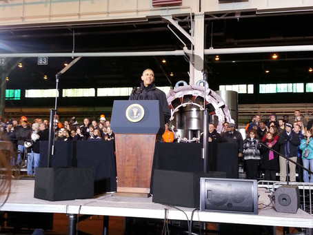 Mr. President in Pittsburgh - and we were invited!