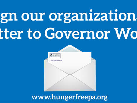 Sign the Letter to Governor Wolf