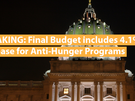 BREAKING: Final Budget Includes 4.1% Increase for Anti-Hunger Programs