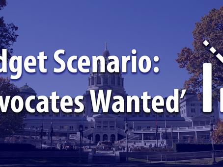 Budget Scenario: 'Advocates Wanted'