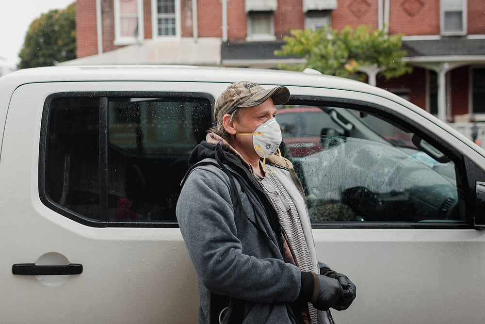Charles Bennicoff was let go from his job as a landscaper and has had to depend on food banks.