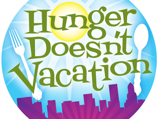 Hunger doesn't take a vacation