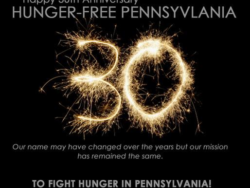 Hunger-Free Pennsylvania Turns 30