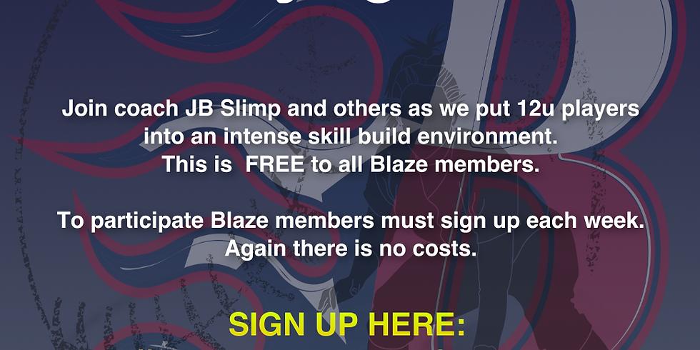 Blaze 12u Wednesday Night Workout!