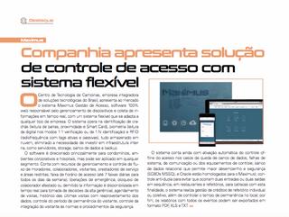 Maximus Acesso é destaque na Edição 04 da Revista Segurança Eletrônica
