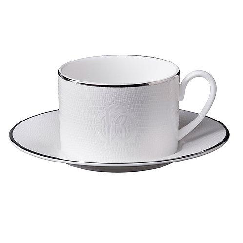 LIZZARD PLATIN 蜥蜴銀 茶杯盤