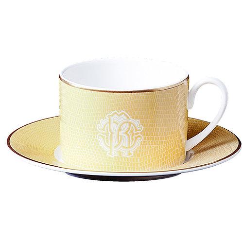 LIZZARD GOLD 蜥蜴金 茶杯盤