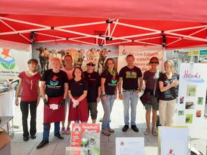 Info- und Foodstand in Offenburg am 27.06.2020