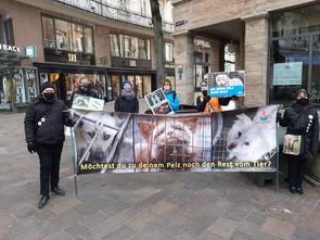 Anti Pelz Mahnwache am 28.11.2020 in Baden-Baden