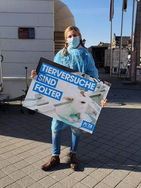 24.04.2021 Silent Line zum Internationalen Tag der Ärzte gegen Tierversuche in Offenburg