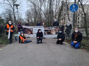 Ampelaktion in Offenburg am 10.03.2021