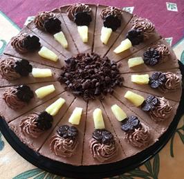 Schoko-Ananas Torte vegan