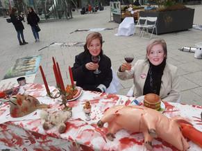 03.04.2021 Stuttgart Frau Klöckners am blutigen Tisch