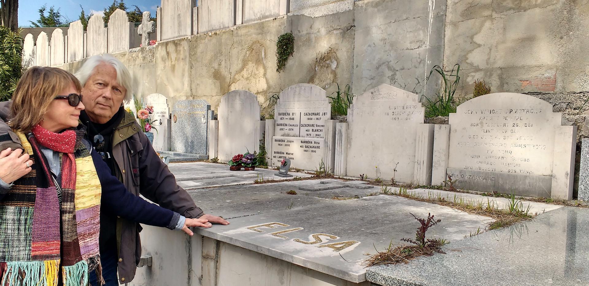Elsa's grave in Vence.