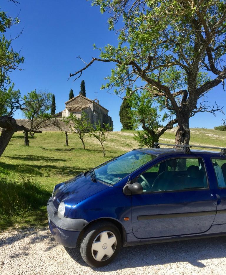 The Twingo near Egalyieres.