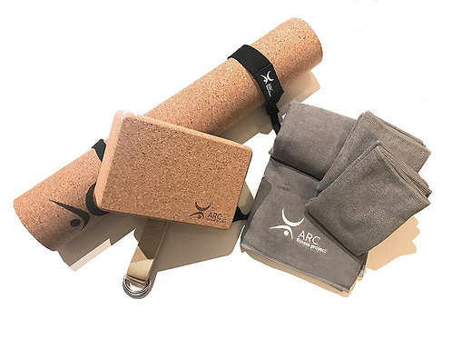 Natural Cork Yoga Set Starter Kit