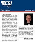 September 2016 Newsleter