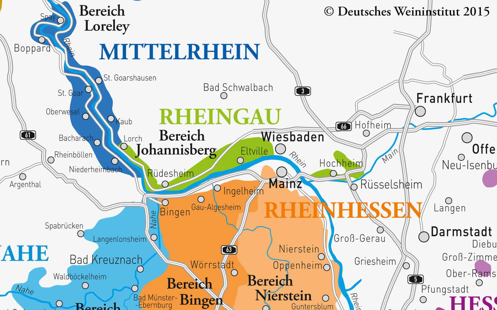 Deutsche Weine vom Rheingau
