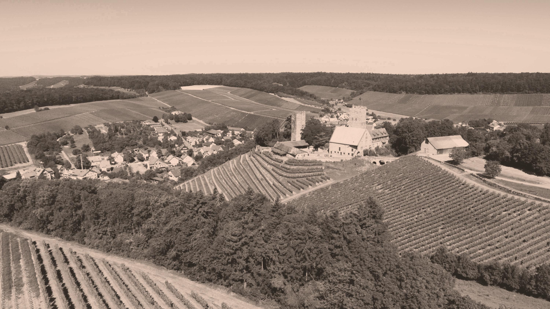 Landschaft bei der Burg Neipperg