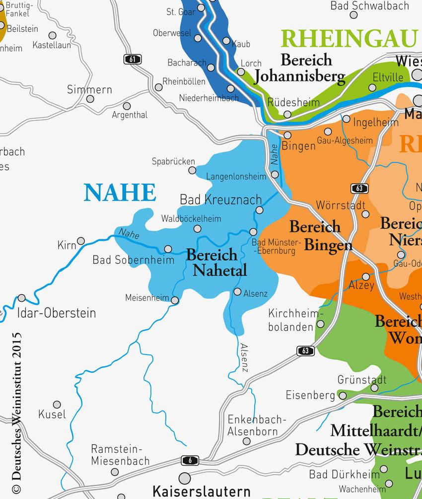 Deutsche Weine aus dem Gebiet Nahe