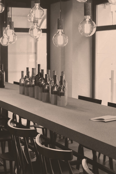 Details in der Weinhandlung und Vinothek