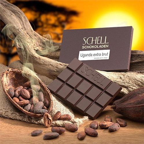 Schokolade Uganda Extra Brut Schokoladenmanufaktur Schell Wein und Schokolade