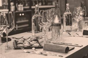 Gedeckter Tisch in der Eventlocation