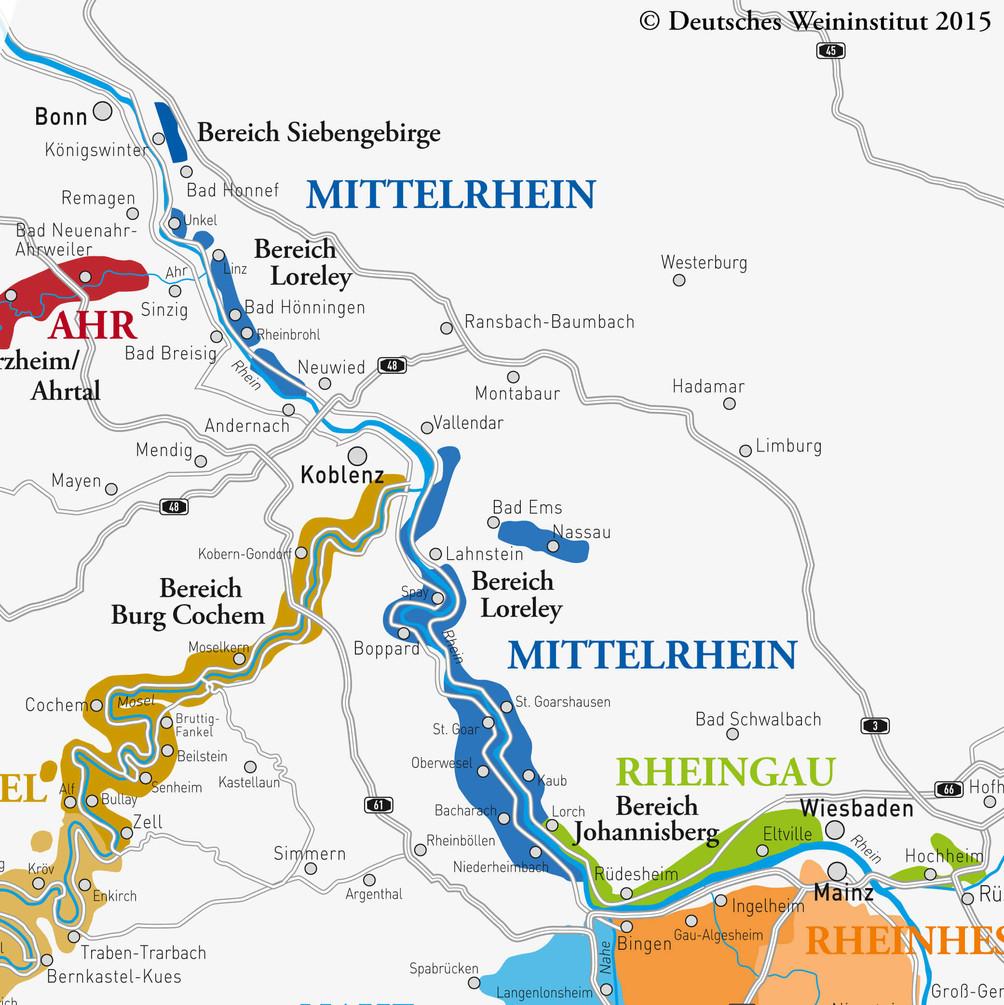 Deutscher Wein vom Mittelrhein