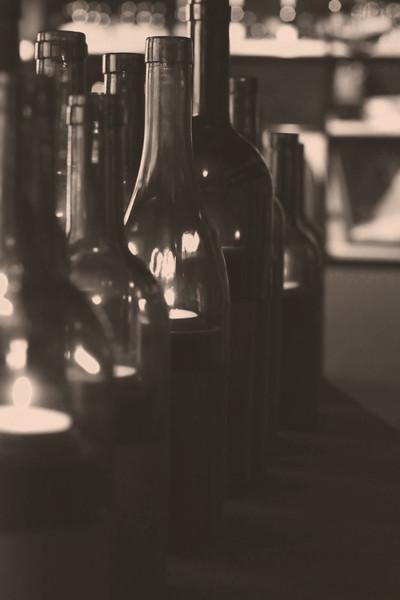 Weinlichter in der Weinhandlung und Vinothek