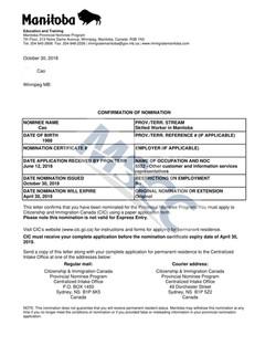 Confirmation of Nomination  (Cao)