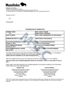 Confirmation of Nomination(Yao)