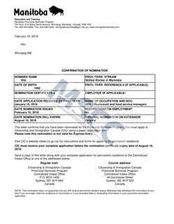Confirmation of Nomination