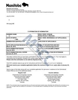Confirmation of Nomination(LI)