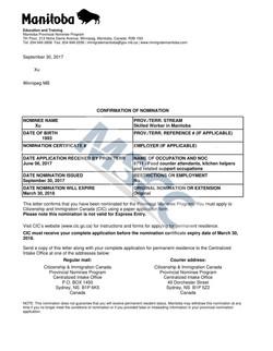 Confirmation of Nomination(Xu)