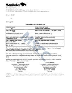 Confirmation of Nomination  (Vo)