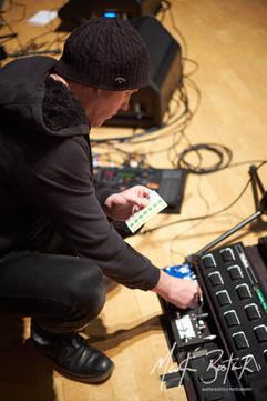 Andy is setting the detonators