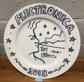 Bill Nelson decorated plate