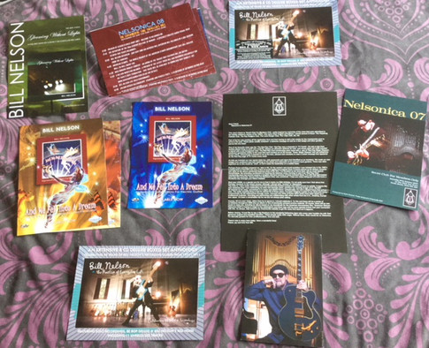 Nelsonica postcards and flyers