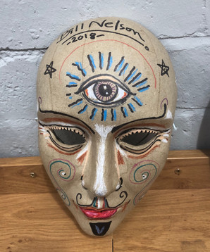 Bill Nelson decorated mask
